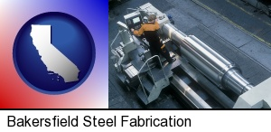 steel fabrication on an automated lathe in Bakersfield, CA