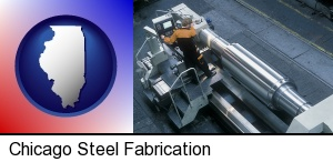 steel fabrication on an automated lathe in Chicago, IL