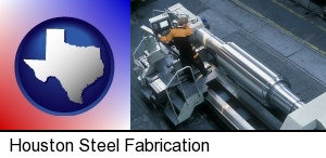 steel fabrication on an automated lathe in Houston, TX