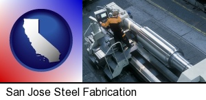 steel fabrication on an automated lathe in San Jose, CA