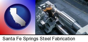 steel fabrication on an automated lathe in Santa Fe Springs, CA