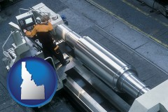 idaho map icon and steel fabrication on an automated lathe
