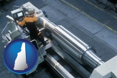 new-hampshire steel fabrication on an automated lathe