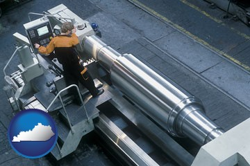 steel fabrication on an automated lathe - with Kentucky icon