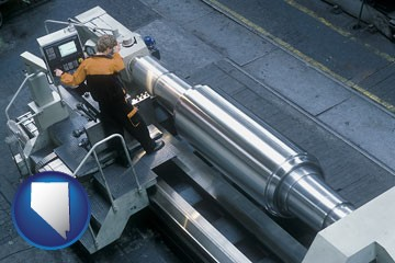 steel fabrication on an automated lathe - with Nevada icon