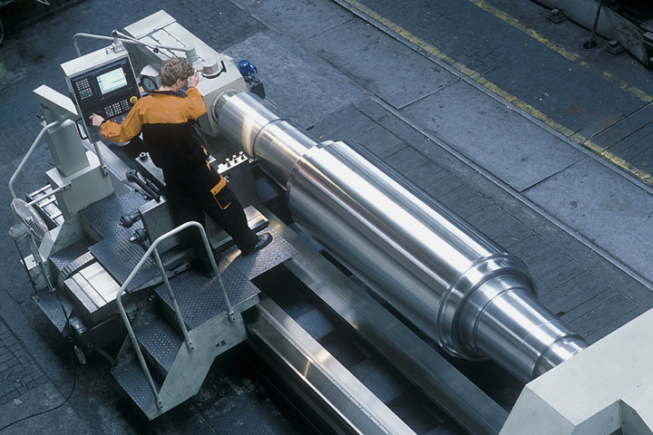 steel fabrication on an automated lathe